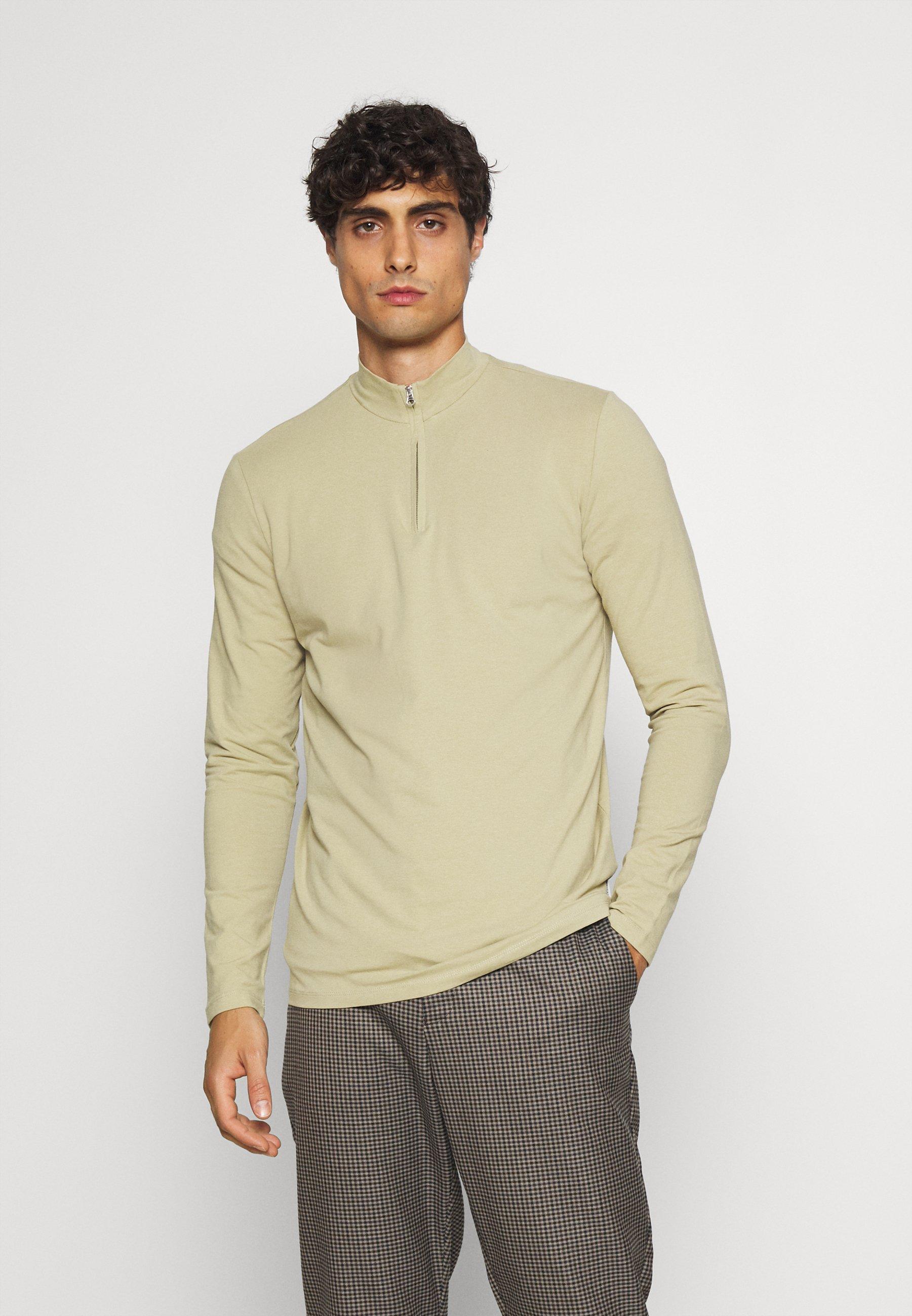 Men THEO ZIPPER - Long sleeved top
