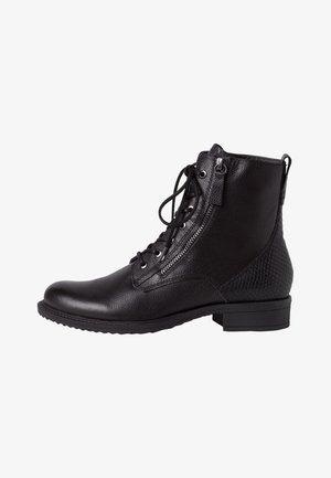 Šněrovací kotníkové boty - black/snake