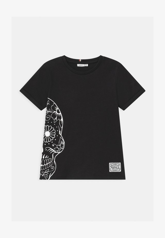 NKMTUSNILDA  - Print T-shirt - black
