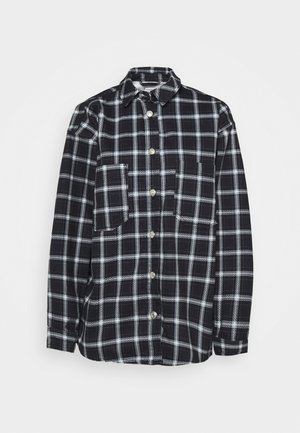PLAID SHACKET - Short coat - navy