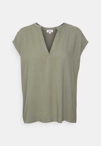 KURZARM - T-shirts med print - khaki