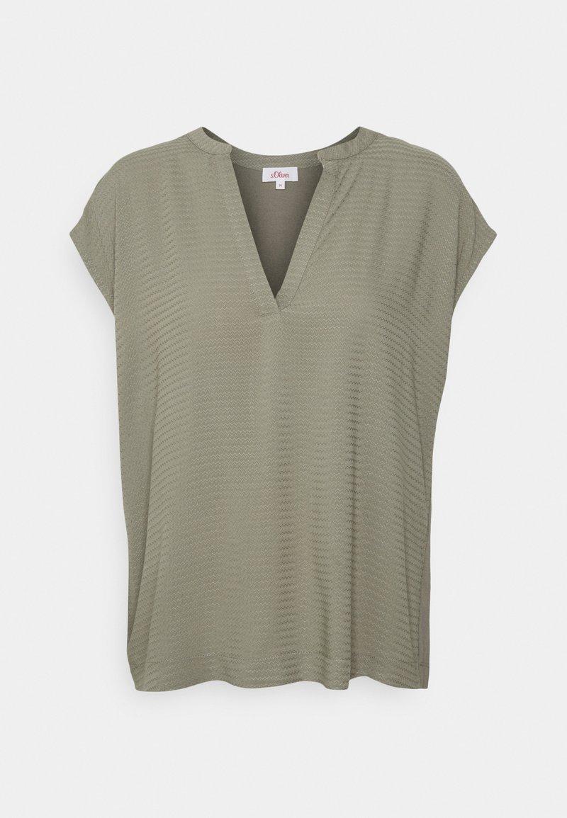s.Oliver - KURZARM - Print T-shirt - khaki