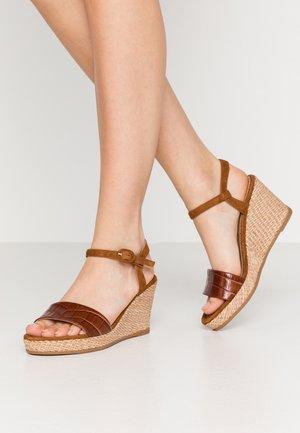 LUPA - Platform sandals - saddle