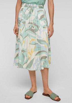 A-line skirt - ocean green aop