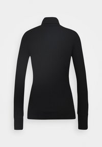 Marc O'Polo PURE - TURTLENECK  LONGSLEEVE FITTED IRREGULAR STRUCTURE - Long sleeved top - pure black - 1