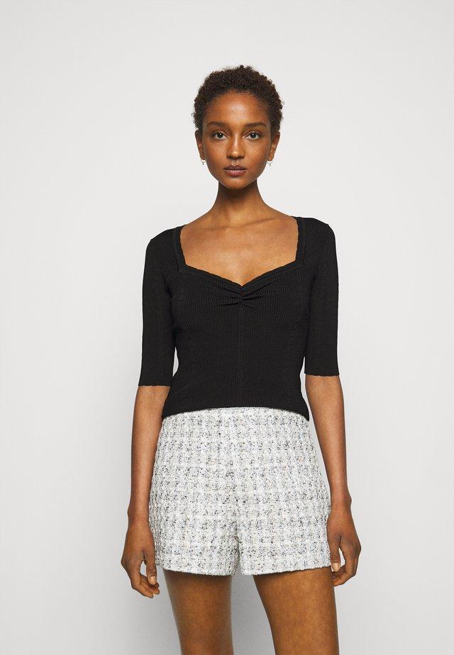 MINILI - Jednoduché triko - noir
