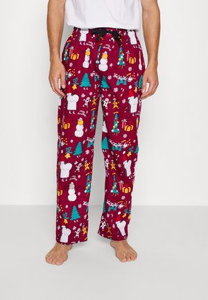 PYJAMA PANT MERRY MERRY - Pyžamový spodní díl - burgundy