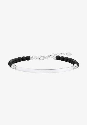 SCHWARZ - Bracelet - silver-coloured, black