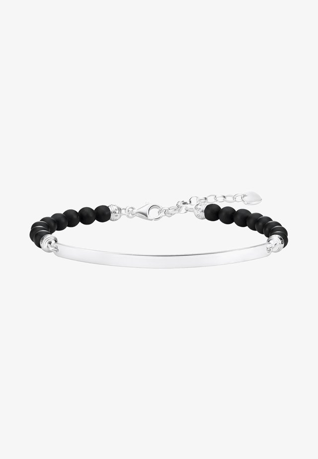 SCHWARZ - Bracelet - silver-coloured, black