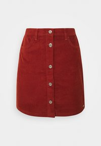 TOM TAILOR DENIM - SKIRT - Mini skirt - rust orange - 0