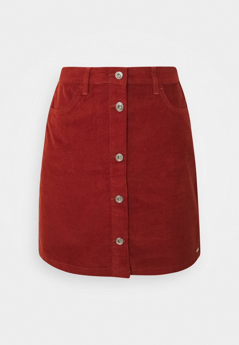 TOM TAILOR DENIM - SKIRT - Mini skirt - rust orange