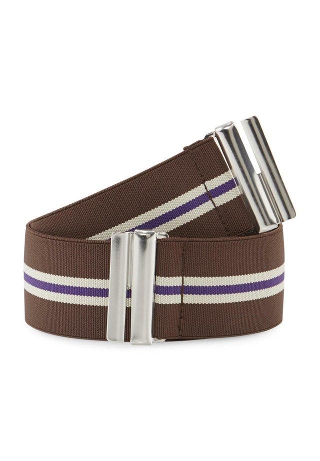 Belt - dk brwon/multi