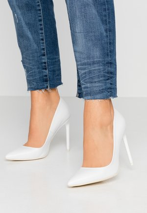 LEATHER PUMP - High Heel Pumps - white