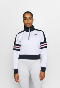 New Balance - ACHIEVER HALF ZIP - Long sleeved top - white - 0