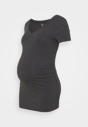 PURE VEE - Basic T-shirt - charcoal grey