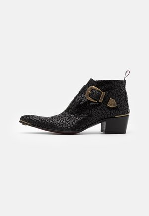 SYLVIAN LARGE BUCKLE - Cowboy/biker ankle boot - black