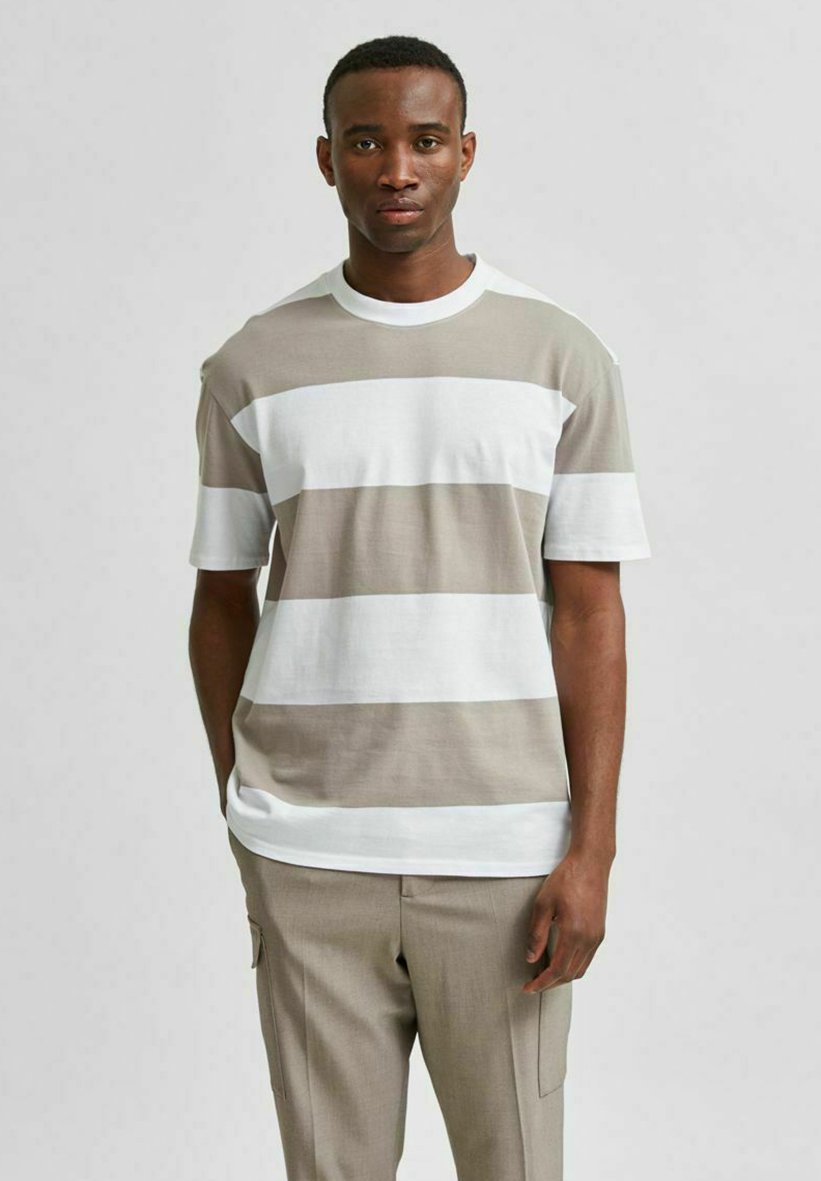 Homme SLHLOOSEBOLD - T-shirt imprimé