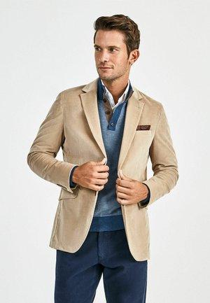 STRETCH CORD - Blazer jacket - beige