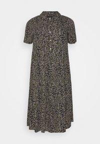 MIDI DRESS - Shirt dress - black