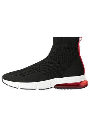 MIT ELASTISCHEM SCHAFT - Sneakersy wysokie - black