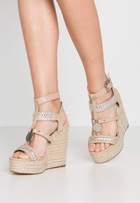 River Island Wide Fit - Sandali con tacco - light pink - 0