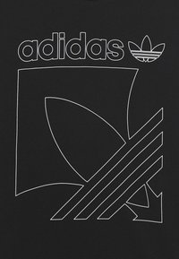adidas Originals - BADGE TEE - T-shirt print - black - 3