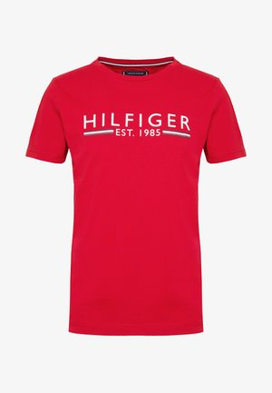 TEE - T-shirt med print - red