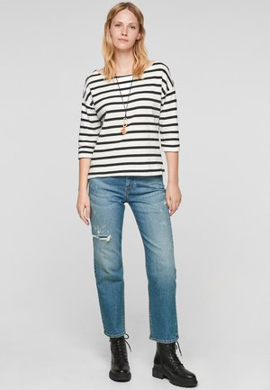 Long sleeved top - offwhite stripes