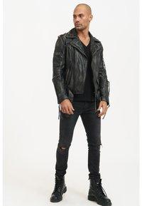 Trueprodigy - Leather jacket - black - 1