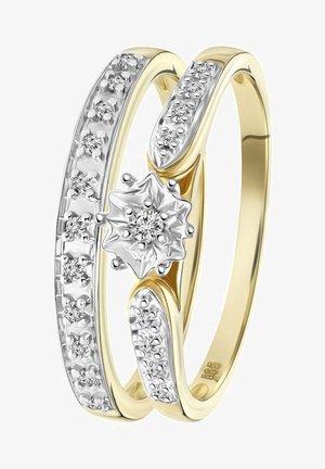 14 CT GOLD, DIAMOND 0,1CT - Ring - geel