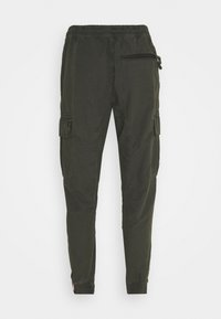 Alpha Industries - RIPSTOP JOGGER - Cargo trousers - greyblack - 1