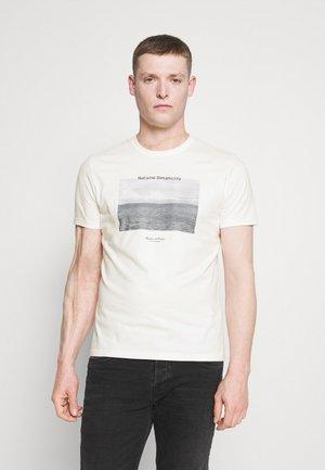 Print T-shirt - egg white