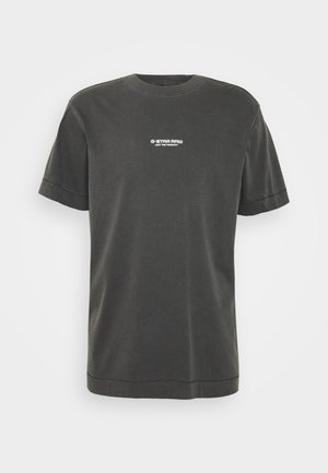 REFLECTIVE LOGO LOOSE OD R T S\S - Print T-shirt - compact black