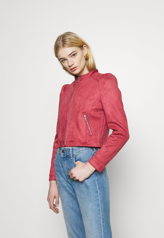 ONLSHELBY CROP BONDED JACKET  - Faux leather jacket - baroque rose