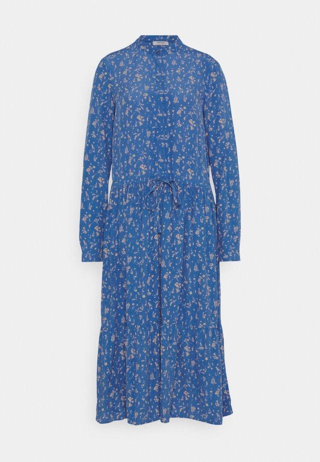 Shirt dress - multi/cornflower