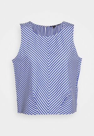 POPLIN SHELL STRIPE - Blůza - blue