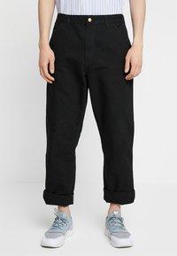 Carhartt WIP - SINGLE KNEE PANT DEARBORN - Jeans Straight Leg - black rinsed - 0