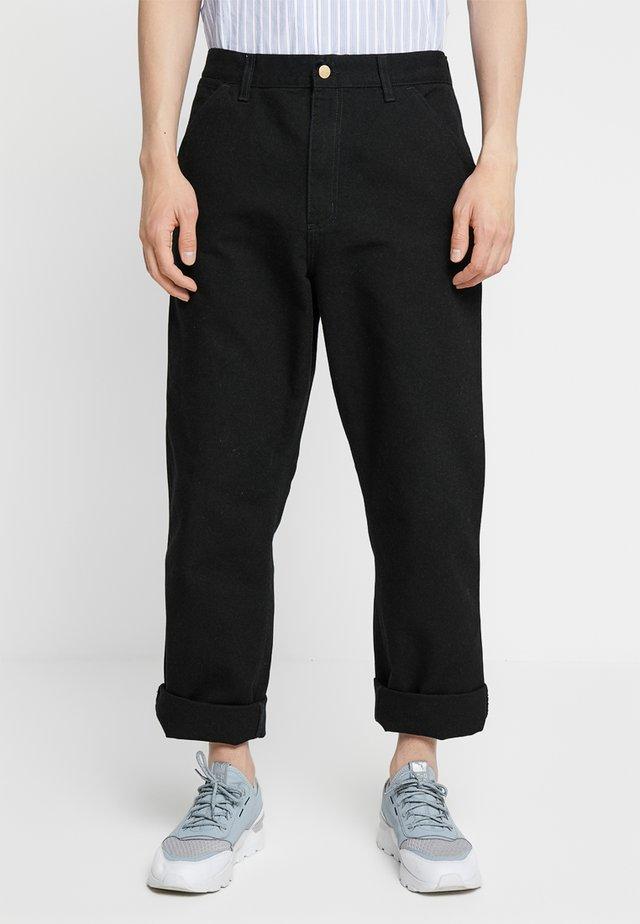 SINGLE KNEE PANT DEARBORN - Jeans straight leg - black rinsed