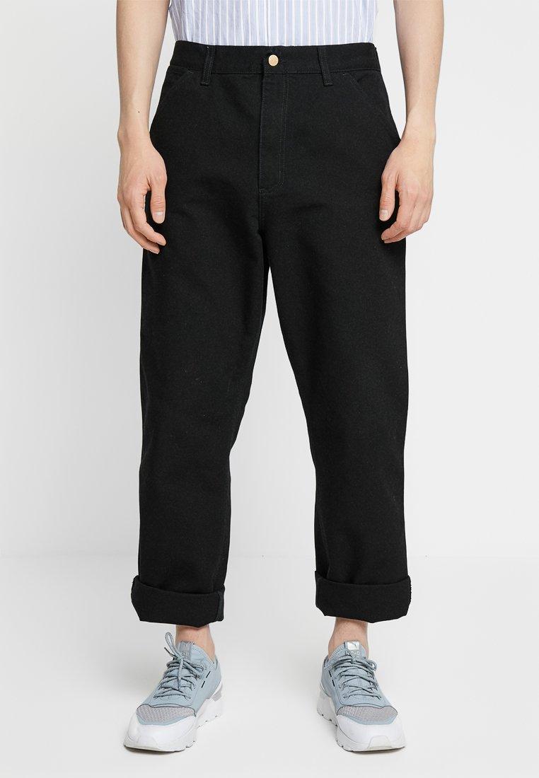 Carhartt WIP - SINGLE KNEE PANT DEARBORN - Straight leg jeans - black rinsed