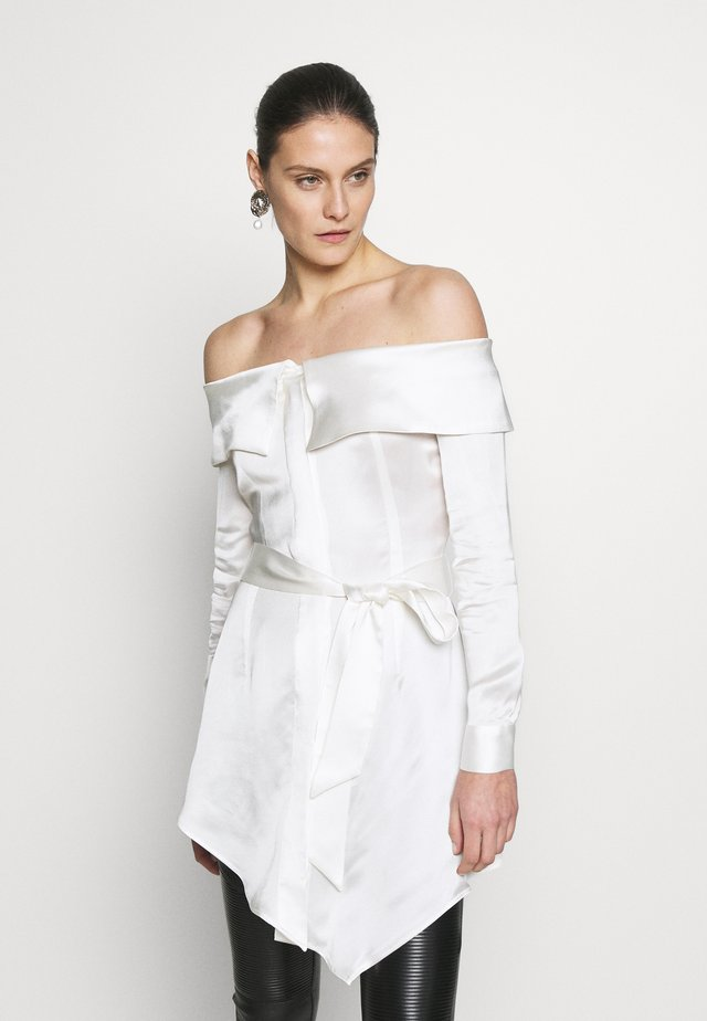 LONG SLEEVE OFF SHOULDER BLOUSE - Camicetta - white