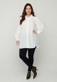 Zizzi - Button-down blouse - white - 0