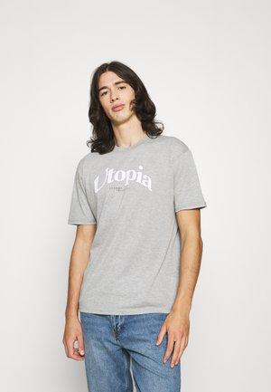 UTOPIA  - Print T-shirt - grey marl