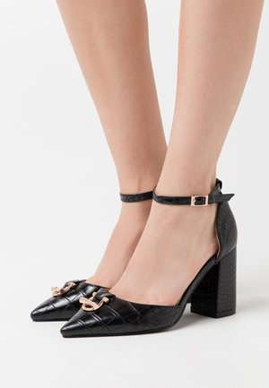 WIDE FIT BELLA - High heels - black