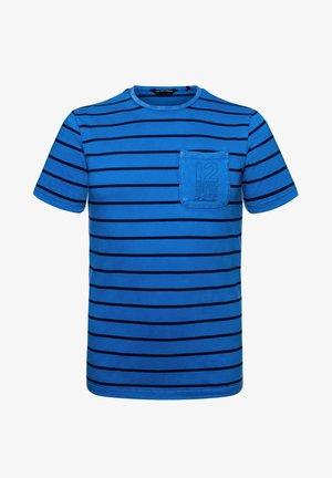 Print T-shirt - washed blue