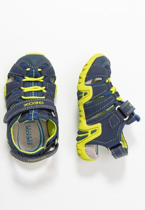 KRAZE - Walking sandals - navy/lime