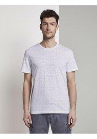 TOM TAILOR - Print T-shirt - white diamond palm tree design - 0