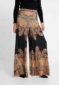 Thurley - MAGIC PALAZZO PANT - Trousers - black/arabian nights - 0