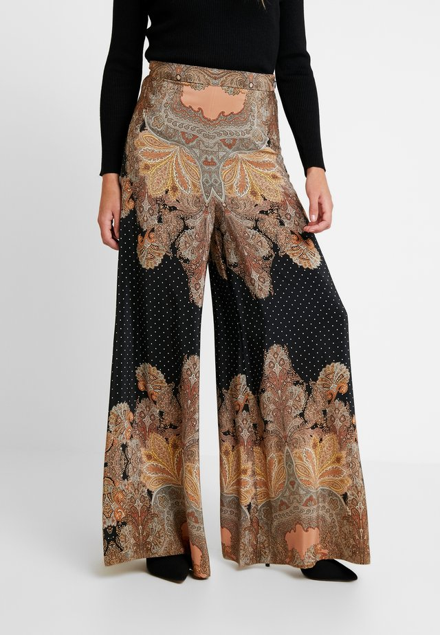 MAGIC PALAZZO PANT - Pantalon classique - black/arabian nights
