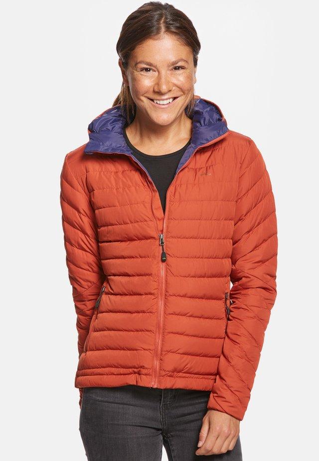 ARIA - Down jacket - orange/navy