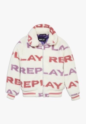 Winter jacket - white/light pink/purple
